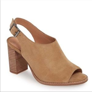 Madewell The Cary Sandal in Faded Birch Suede 9